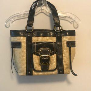 Coach vintage wicker leather hobo ⭐️